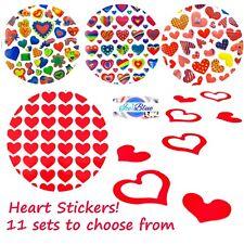 Pegatinas de corazón - 11 juegos diferentes para elegir-tamaños de 5 Mm a 27 mm