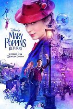 "Mary Poppins Returns Movie Poster Disney Musical Film Print 13x20"" 24x36"" 27x40"""