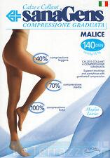Sanagens autoreggenti malice stay up 140 den 15-16 mmHg calze maglia liscia
