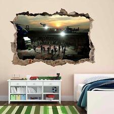Foyer bureau zombies apocalypse walking dead mur voiture autocollants decals