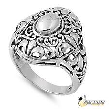 .925 Sterling Silver Bali Design Fleur De Lis Ring Size 5 6 7 8 9 10 NEW