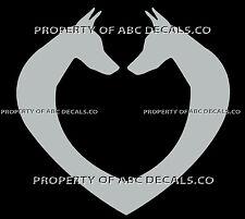 Vrs Dog Face Heart Doberman Pinscher Mini Love Adoption Rescue Car Vinyl Decal