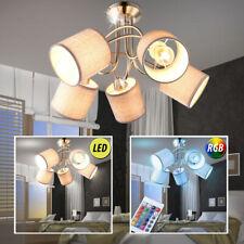 Plafonnier LED tissu éclairage couloir RGB télécommande lampe intensité variable