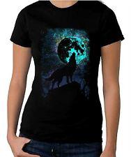 Wolf Howling at the Moon Women's T-Shirt - Werewolf Wolves Halloween