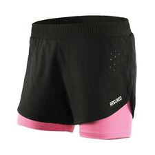 Damen Running Shorts 2 in 1 Outdoor Sports Fitness Gym Training Running Shorts