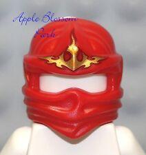 NEW Lego Ninjago Ninja RED HEAD WRAP NRG Kai Minifig Headwrap Hood Hat Fire Gear