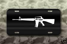 M-16 Army Gun License Plate Military Rifle
