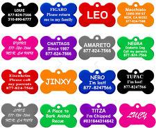 Bone Shape Pet Id Tags, Dog Tags, Premium Aluminum, 8 Colors to Choose