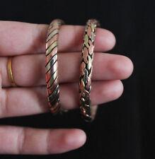 Tibetan Jewelry Ethnic Three Metal Braided Bracelet Cuff Bangle Nepal Two Styles
