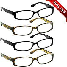 NEW Reading Glasses | 4 Pack | Black Tortoise | Flex Hinges | DuraTight Screws