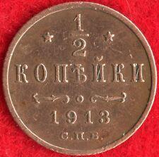 RUSSIA - 1/2 KOPEK - 1913