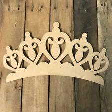 Wooden Crown Cutout, Wood Shape, Wall Art Shape, Paintable Wall Craft