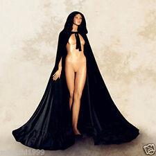 Cloak Adult Velvet Hooded Cape Medieval Renaissance Costume Fancy Dress