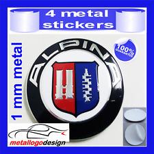METAL STICKERS WHEELS CENTER CAPS Centro LLantas 4pcs ALPINA 3
