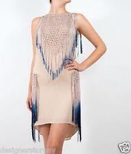 Haute Hippie Dip Dye Ombre Fringe Dress XS/S