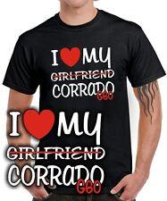 T-SHIRT * I LOVE MY Girlfriend CORRADO G60 * Tuning Treffen Turbo * SATIRE vw