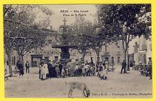 cpa Très RARE 34 - MÈZE (Hérault) FÊTE LOCALE Place de la MAIRIE Le Boeuf Animé