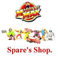 Vintage original 1992 mighty max ~ figures & pièces de rechange shop ~ charges à choisir