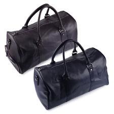 Mens Large Leather Travel Sports Gym Bag Weekend Overnight Duffle Bag Handbag