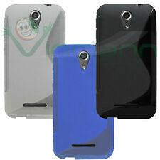Custodia cover WAVE per Vodafone Smart 4 Power case TPU flessibile gel morbida