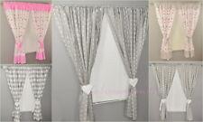 Children Bedroom  Window Curtains /Pencil Pleat/ tiebacks/Slot Top Baby Nursery