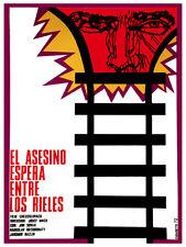 Asesino espera entre los rieles Decor Poster. Graphic Art interior design 3763