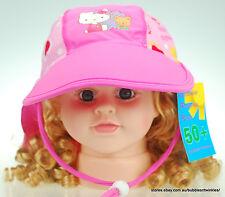 Hello Kitty Lycra Beach Sun Hat / Cap Kids Child New w/ Adjustable Strap 3 Sizes