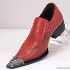 CK1322 Chris Kaadu Men Dress Comfort Loafer Black Silver Patent leather