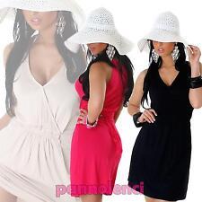 Vestito donna miniabito copricostume scollo V abito nuovo LI-TS-206