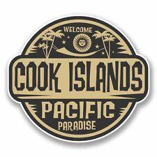 2 x Pegatina Calcomanía Islas Cook Portátil Coche Viaje Equipaje Etiqueta #9826