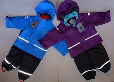 ABEKO SALME Kinder Regenanzug Fleece Gr 80-15 Regenjacke+Regenhose Regenset NEU