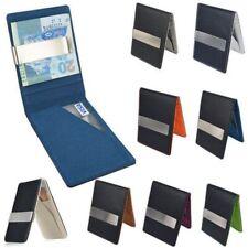 Men Slim Wallets Stainless Steel Money Clip Purse ID Credit Card Holder
