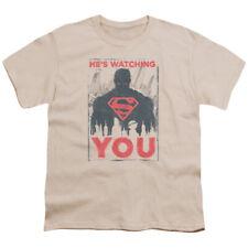 Superman He's Watching You Big Boys Youth Shirt