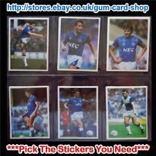☆ DAILY MIRROR 1986-87 bastone con calcio (Everton) * selezionare gli adesivi *