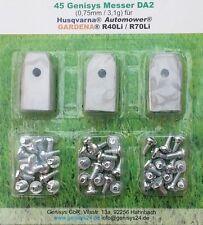45 rostfreie Ersatzmesser für Husqvarna Automower *extradick (0,75mm)* Top Quali