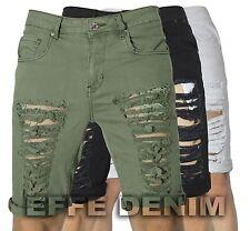 Bermuda Cotone strappati Jeans uomo Shorts Denim pantaloni slim elasticizzati