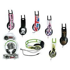 Stereo Kopfhörer Headphone 1,2m Kabel DJ UK Totenkopf Sterne Design