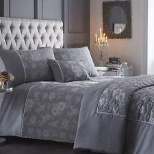 Warwick Bedding Silver / Grey Contemporary Floral Bed Linen