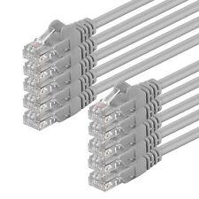 10 Stück CAT5 Kabel Patchkabel Netzwerk LAN Netzwerkkabel 10x grau 0,25 m - 20 m