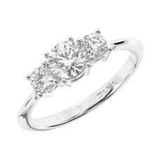 1.00 carat Round Brilliant Cut Diamond Engagement Ring Available in Platinum