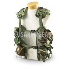 US MADE Military USGI MOLLE Woodland Camouflage Tactical Load Bearing Vest LBV