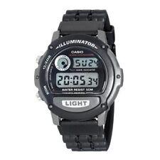 Casio Mens Digital Illuminator Watch, Black Resin, Chronograph, Alarm, W87H-1V