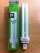 26w watt 2 pin PLC Fluorescent Bulb BLD Cool White 840 G24d-3    x 10 Pack