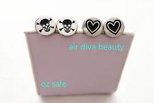Man Women 316L Steel Stainless Skull heart love Studs Piercing Stud Earrings