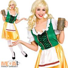 Bavarian German Beer Girl Ladies Fancy Dress Womens Oktoberfest Waitress Costume