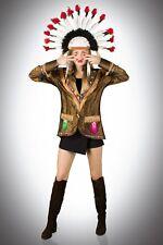 Damen Indianer Jacke Hochwertige Kostüm Karneval Fasching 36-54