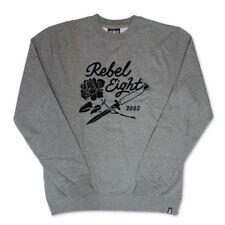 Rebel8 Rose And Daggers Sweatshirt Grey