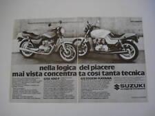 advertising Pubblicità 1982 SUZUKI GSX 400 F/GS 550 EM