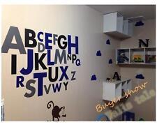 large size Wall Art Decal Vinyl Alphabet Sticker kids children alphabet wall
