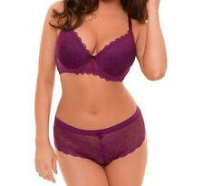Sexy Diamond Lace Bra Violet Fuchsia Sizes 32B-38B 34C-40C 36D-44D 36DD-44DD 020